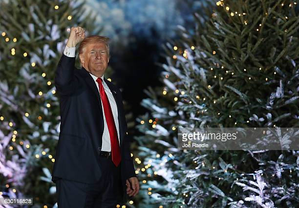 Presidentelect Donald Trump attends a stop on his 'USA Thank You Tour 2016' at the Orlando Amphitheater at the Central Florida Fairgrounds on...