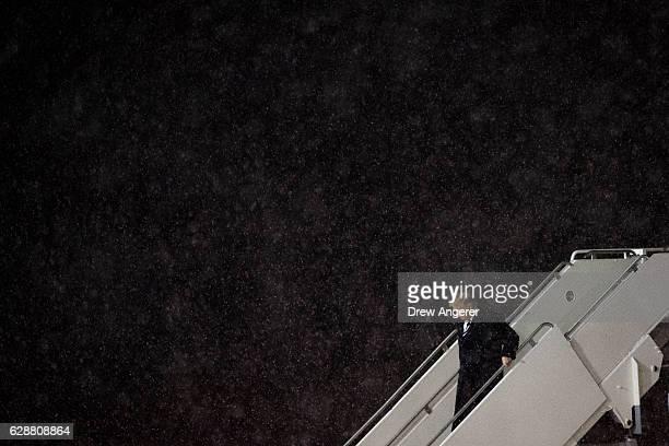 Presidentelect Donald Trump departs his plane at Gerald R Ford International Airport December 9 2016 in Grand Rapids Michigan Presidentelect Donald...