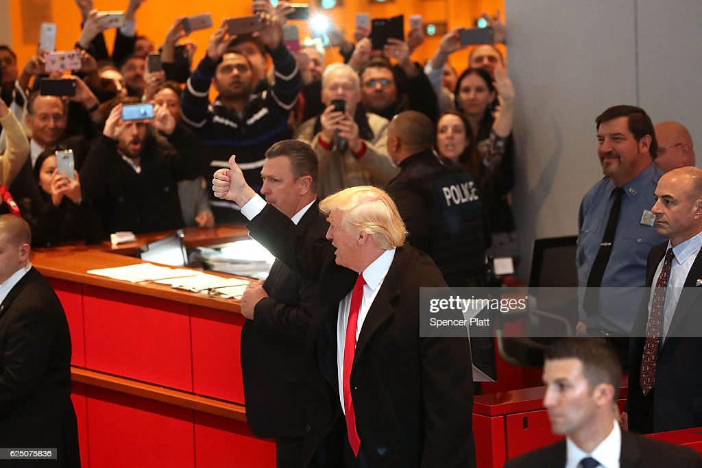 Donald Trump Holds Meeting At The New York Times : News Photo