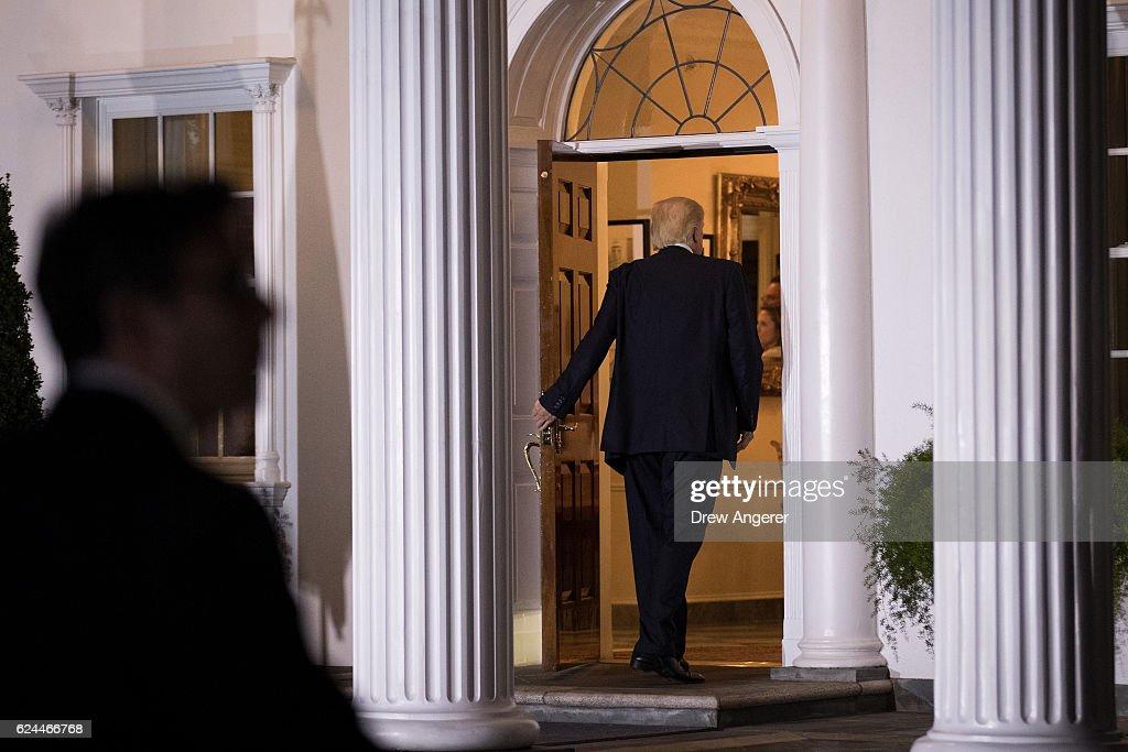 Donald Trump Holds Weekend Meetings In Bedminster, NJ : News Photo