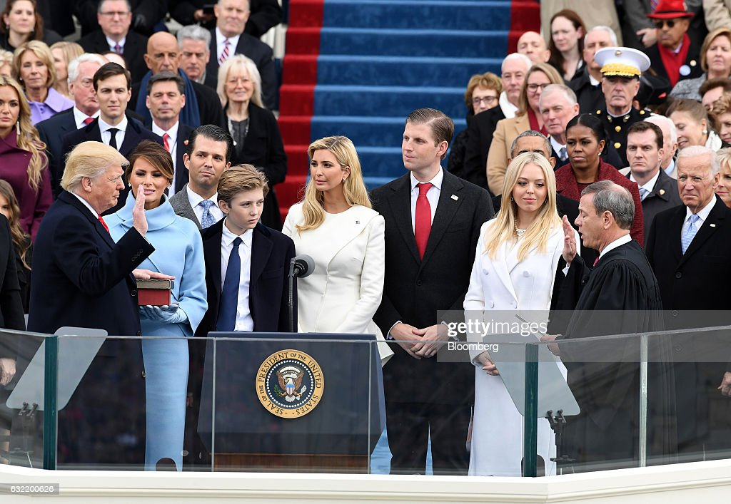 Inauguration Of Donald Trump As 45th President Of The United States : News Photo