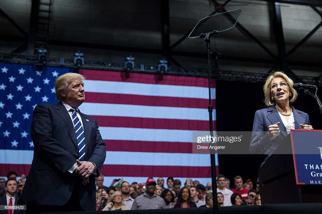 """President Elect Trump Continues His """"Thank You Tour"""" In Grand Rapids, Michigan : News Photo"""
