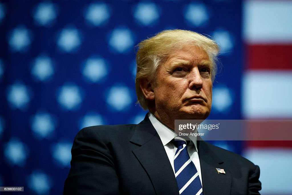 President Elect Trump Continues His 'Thank You Tour' In Grand Rapids, Michigan : News Photo