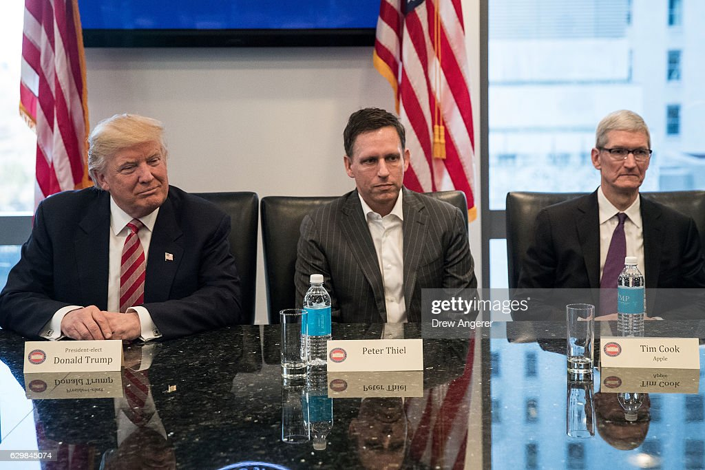 Trump Holds Summit With Technology Industry Leaders : News Photo
