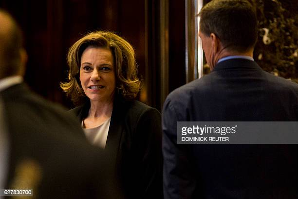 Presidentelect Donald Trump's Deputy National Security Advisor KT McFarland is seen at Trump Tower in New York on December 5 2016 / AFP / DOMINICK...