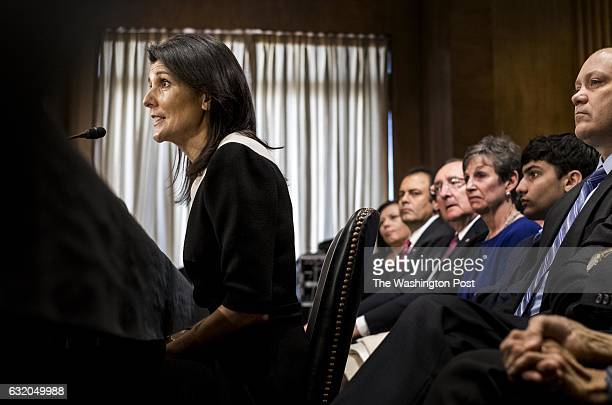 WASHINGTON DC Presidentelect Donald Trump's nominee for Representative of the United States of America to the United Nations South Carolina Governor...
