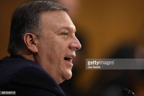 S Presidentelect Donald Trump's nominee for the director of the CIA RepÊMike Pompeo attends his confirmation hearing before the Senate Intelligence...