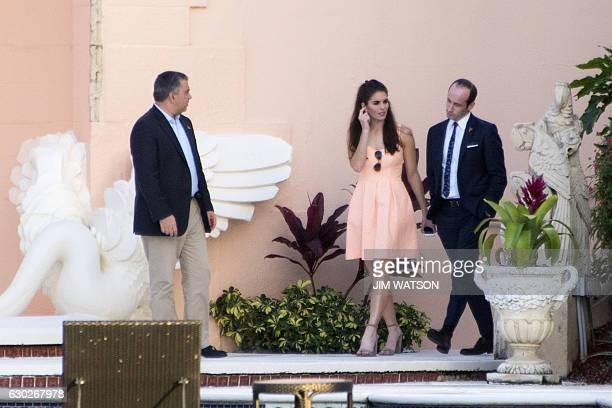 US Presidentelect Donald Trump's senior policy advisor Stephen Miller Communications Director Hope Hicks and deputy campaign manager David Bossie...