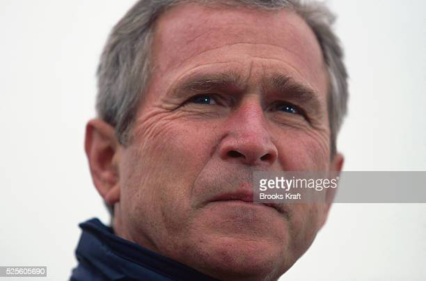 Presidentelect George W Bush waits at his Texas ranch for the outcome of the Florida vote recount debate Bush was elected president of the United...