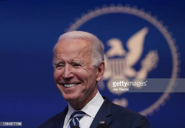 President-elect Joe Biden addresses the media about the Trump Administration's lawsuit to overturn the Affordable Care Act on November 10, 2020 at...