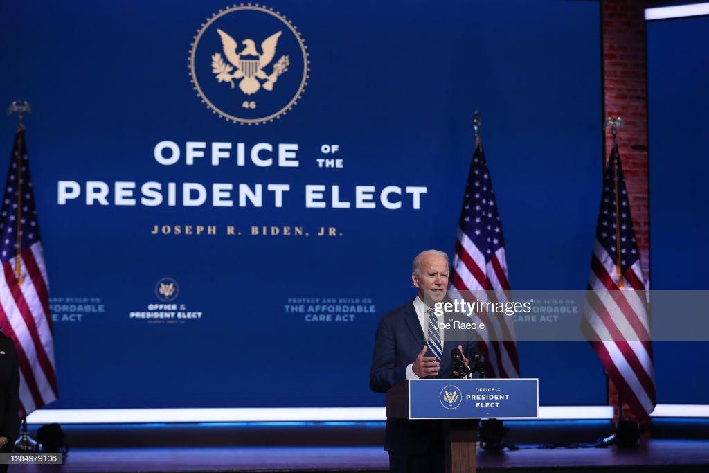 President-Elect Biden Remarks On ACA As Supreme Court Takes On Case : News Photo