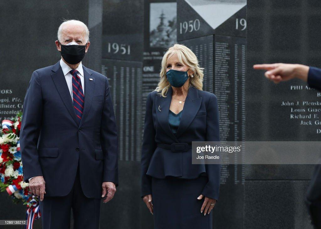 President-Elect Joe Biden Marks Veterans Day In Philadelphia : News Photo