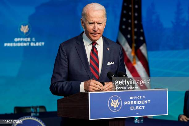 President-elect Joe Biden announces members of his climate and energy appointments at the Queen theater on December 19, 2020 in Wilmington, DE....