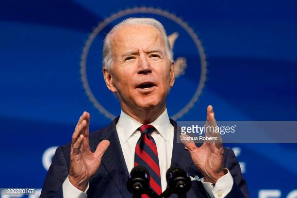 President-elect Joe Biden announces members of his climate and energy appointments at the Queen theater on December 19, 2020 in Wilmington, DE. Biden...