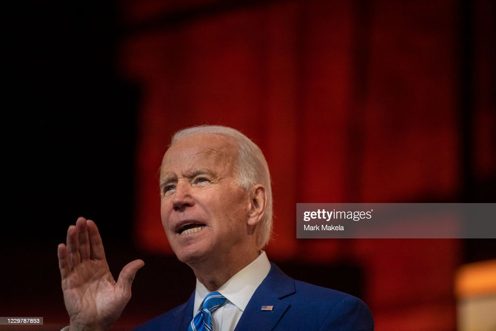 President-Elect Biden Delivers Thanksgiving Address In Wilmington : News Photo