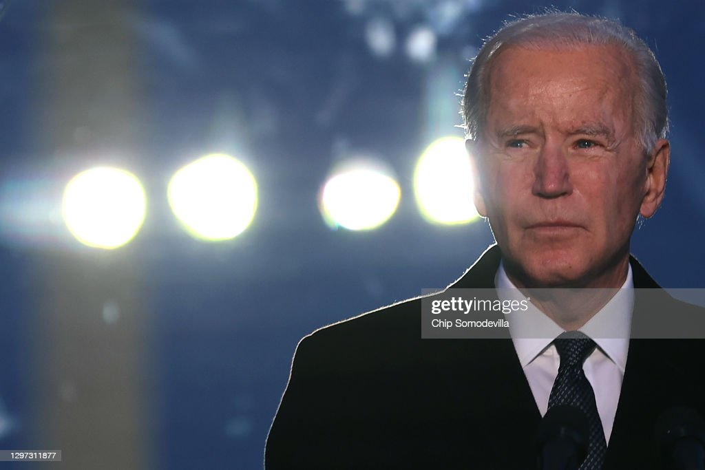 COVID-19 Memorial Service Held In Washington On The Eve Of Biden's Inauguration : News Photo