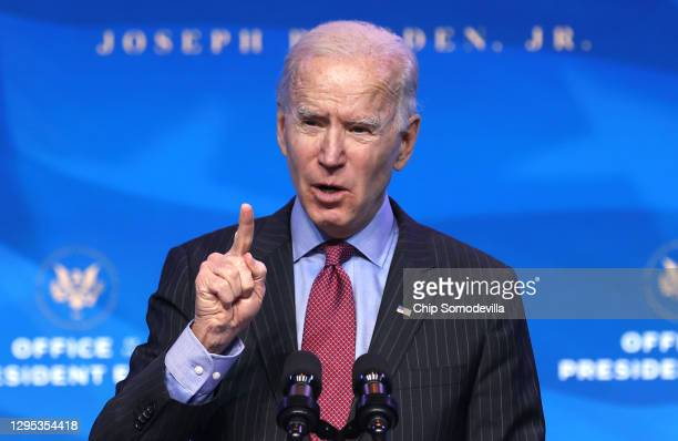 President-elect Joe Biden delivers remarks after he announced cabinet nominees that will round out his economic team, including secretaries of...
