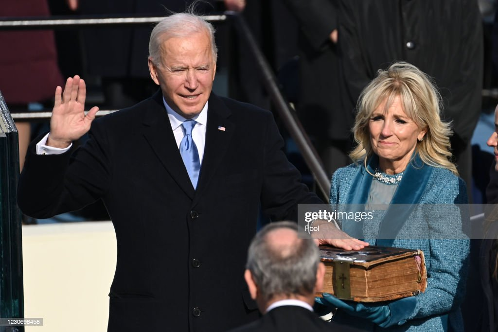 Joe Biden Sworn In As 46th President Of The United States At U.S. Capitol Inauguration Ceremony : ニュース写真