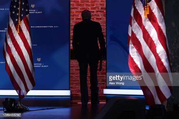 President-elect Joe Biden leaves after he spoke on November job numbers at the Queen theater December 4, 2020 Wilmington, Delaware. U.S. Economy...