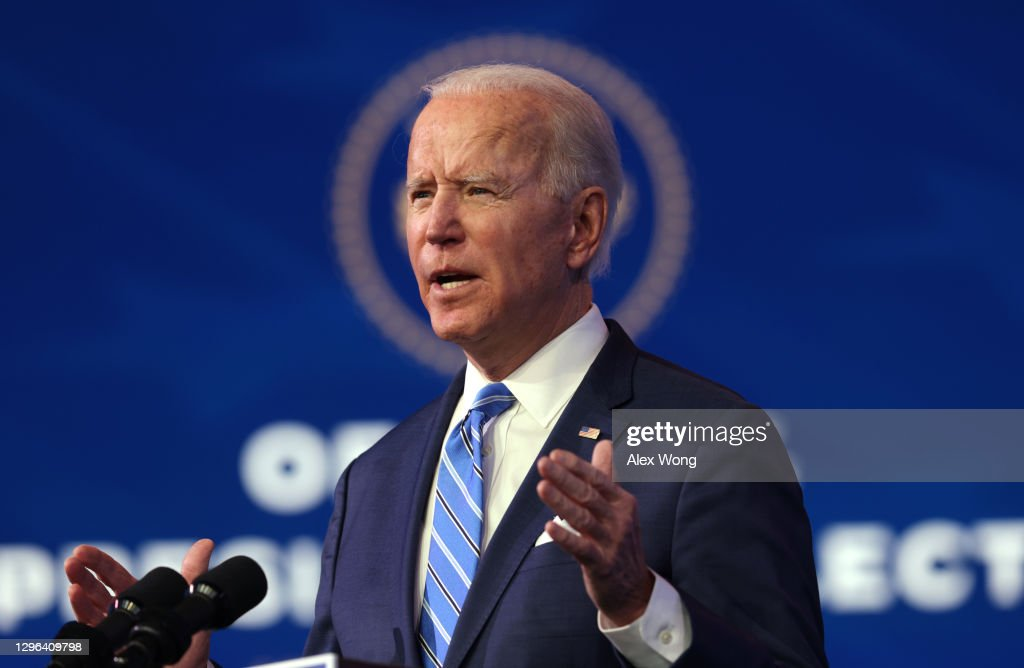 President-Elect Biden Delivers Remarks On COVID-19 Pandemic And Planned Response : News Photo