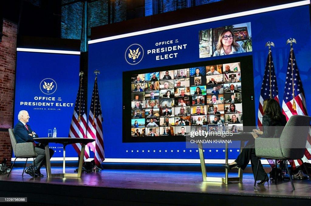 TOPSHOT-US-VOTE-POLITICS-BIDEN : News Photo