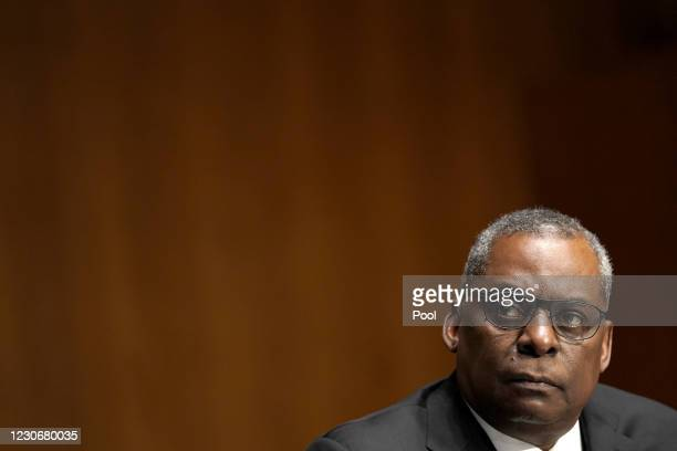 President-elect Joe Biden's nominee for Secretary of Defense, retired Army Gen. Lloyd Austin testifies at his confirmation hearing before the Senate...