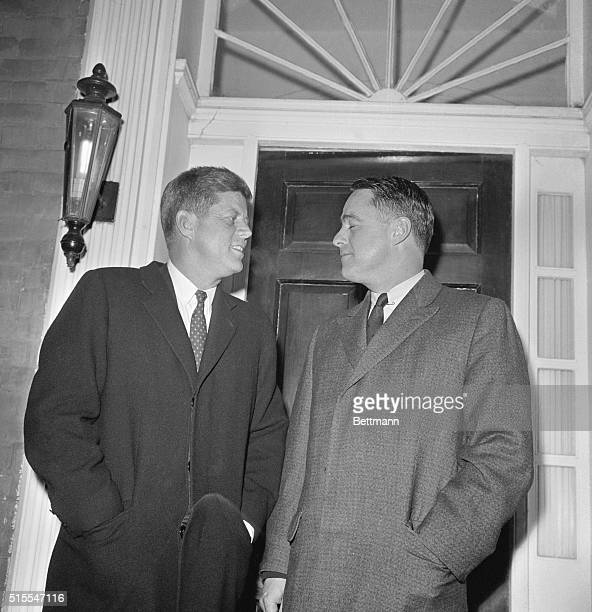 Presidentelect John Kennedy with his brotherinlaw Sargent Shriver
