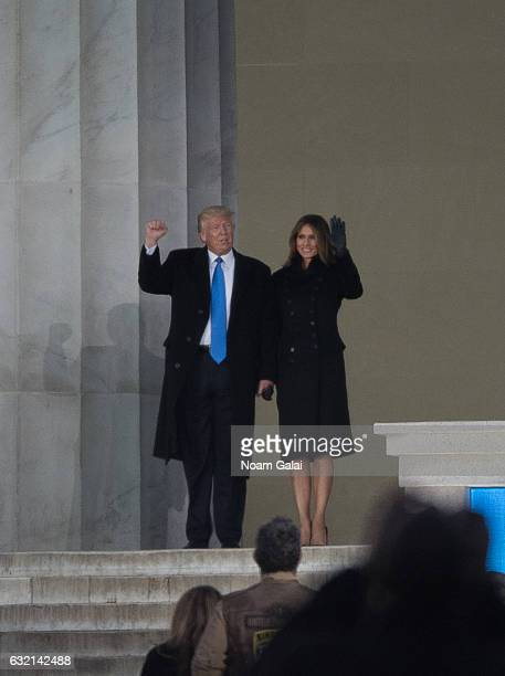 Presidentelect of the United States of America Donald J Trump and Melania Trump attend the Inaugural 2017 Make America Great Again Welcome...