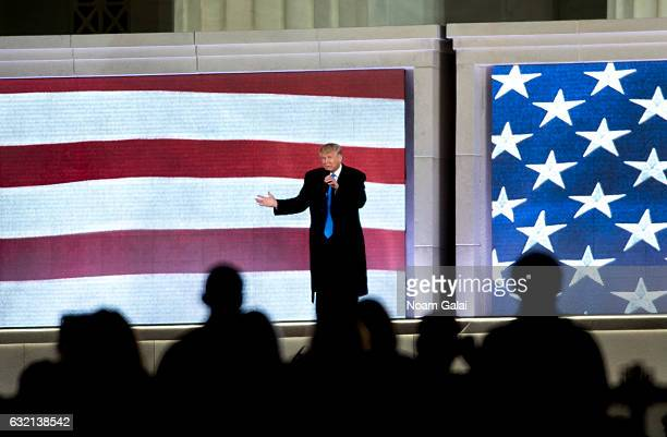Presidentelect of the United States of America Donald J Trump speaks during the Inaugural 2017 Make America Great Again Welcome Celebration on...