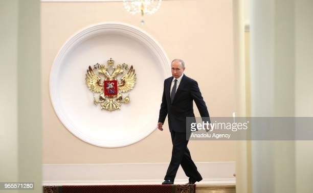 President-elect Vladimir Putin walks prior to his inauguration ceremony as President of Russia at the Kremlin Palace in Moscow, Russia on May 07,...