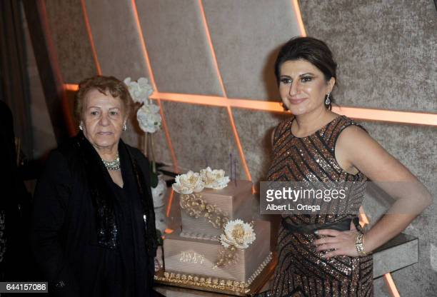 President/founder Lousine Karibian of The World Networks with mother at the 2017 Entrepreneur Awards held at Allure Events And Catering on February...