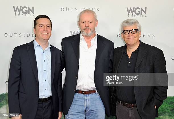 President/General Manager WGN America and Tribune Studios Matt Cherniss actor David Morse and executive producer Peter Tolan attend the WGN America...