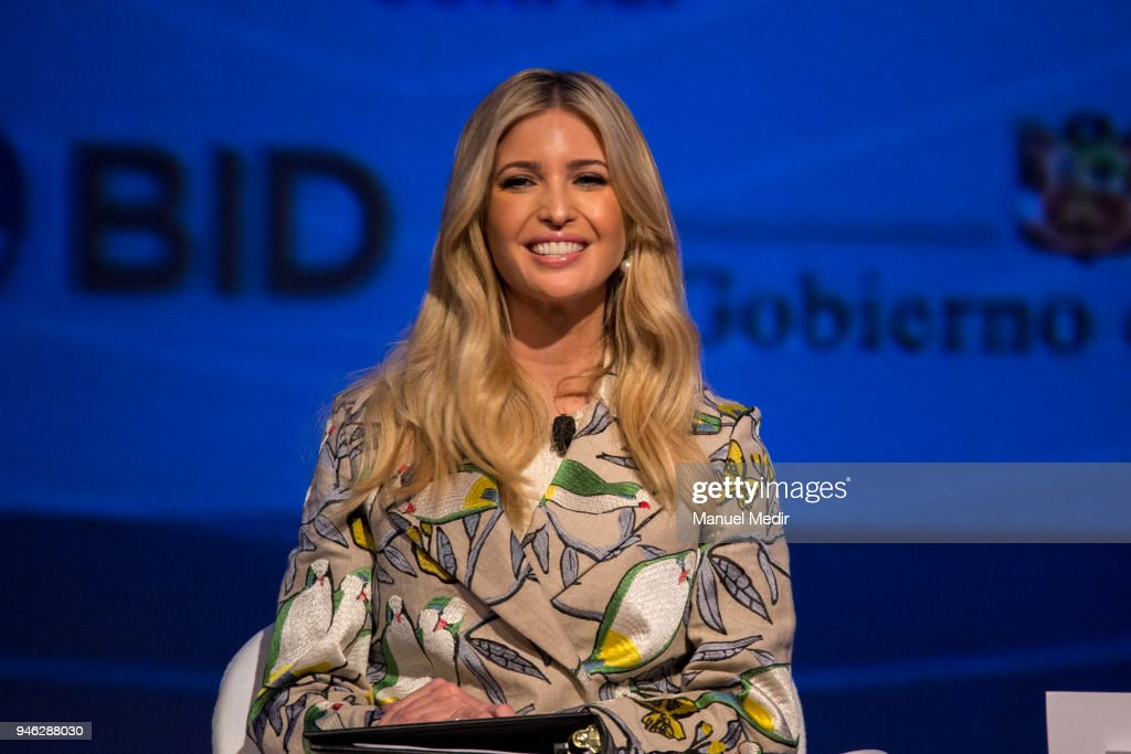 US Presidential Advisor Ivanka Trump speaks during the III CEO Summit of the Americas as part of the events prior to the VIII Summit of The Americas on April 13, 2018 in Lima, Peru. III Americas Business Summit is a business event that gathers the Heads of State and the main CEOs of the continent to analyze the opportunities to promote economic growth and investments through public-private interaction.