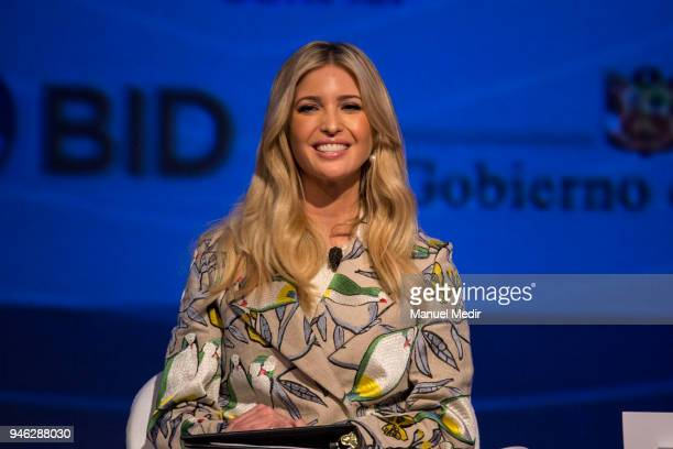 Presidential Advisor Ivanka Trump speaks during the III CEO Summit of the Americas as part of the events prior to the VIII Summit of The Americas on...