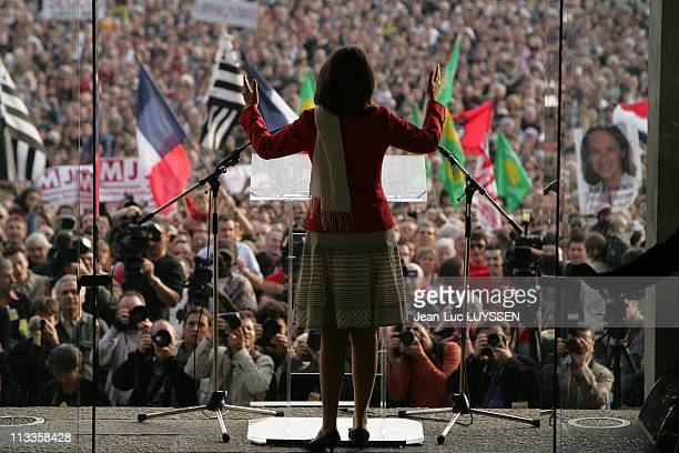Presidential Campagne Segolene Royal In Brittany In Brest France On May 04 2007 On the last day of the electoral campagne before the second round of...