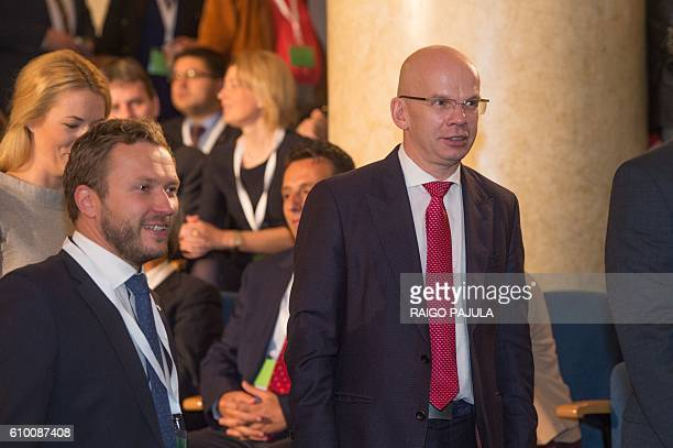 Presidential candidate Allar Joks attends the Estonian presidential elections in Tallinn on September 24 2016 Estonia's electoral college meets to...