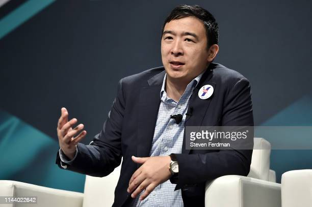 Presidential Candidate and Entrepreneur Andrew Yang attends Consensus 2019 at the Hilton Midtown on May 15, 2019 in New York City.