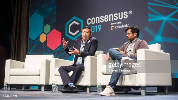 Presidential Candidate and Entrepreneur Andrew Yang attends Consensus 2019 at the Hilton Midtown on May 15 2019 in New York City