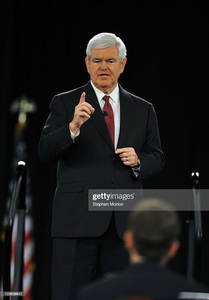 GOP Presidential candidate and former Georgia Congressman Newt Gingrich makes opening remarks during the American Principles Project Palmetto Freedom Forum, September 5, 2011 in Columbia, South Carolina. Herman Cain, Ron Paul, Mitt Romney and Michelle Bachmann are also scheduled to attend the forum hosted by Sen. Jim DeMint (R-SC). Texas Governor Rick Perry was scheduled to attend as well, but he decided to return to Texas because of the wildfires burning across the state.
