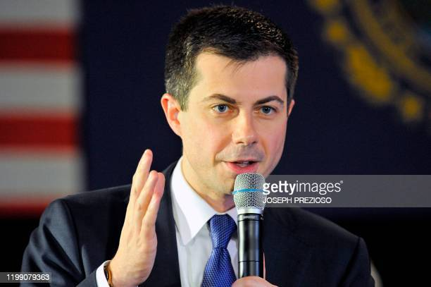 Presidential Candidate and former South Bend, Indiana mayor Pete Buttigieg speaks and answers questions to veterans and members of the public at a...