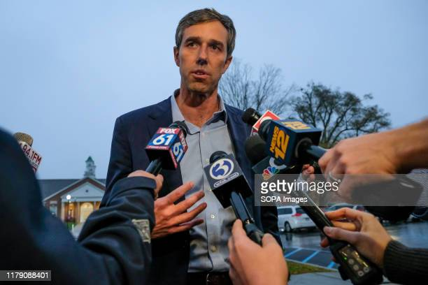 Presidential candidate Beto O'Rourke talks to media about gun violence in Newtown. Taking a short break from campaigning, Beto O'Rourke spent the...