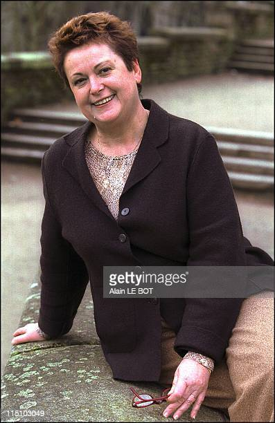 Presidential candidate Christine Boutin starts campaign in Nantes France on February 04 2002 After her campaign launching meeting in Paris Christine...