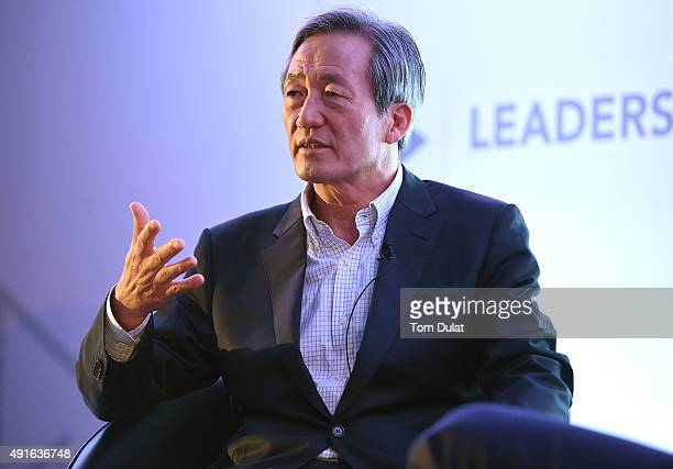 Presidential Candidate Chung MongJoon speaks during day one of the Leaders Sport Business Summit at Stamford Bridge on October 7 2015 in London...