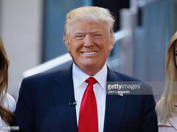 Presidential Candidate Donald Trump attends NBC's Today Trump Town Hall at Rockefeller Plaza on April 21 2016 in New York City