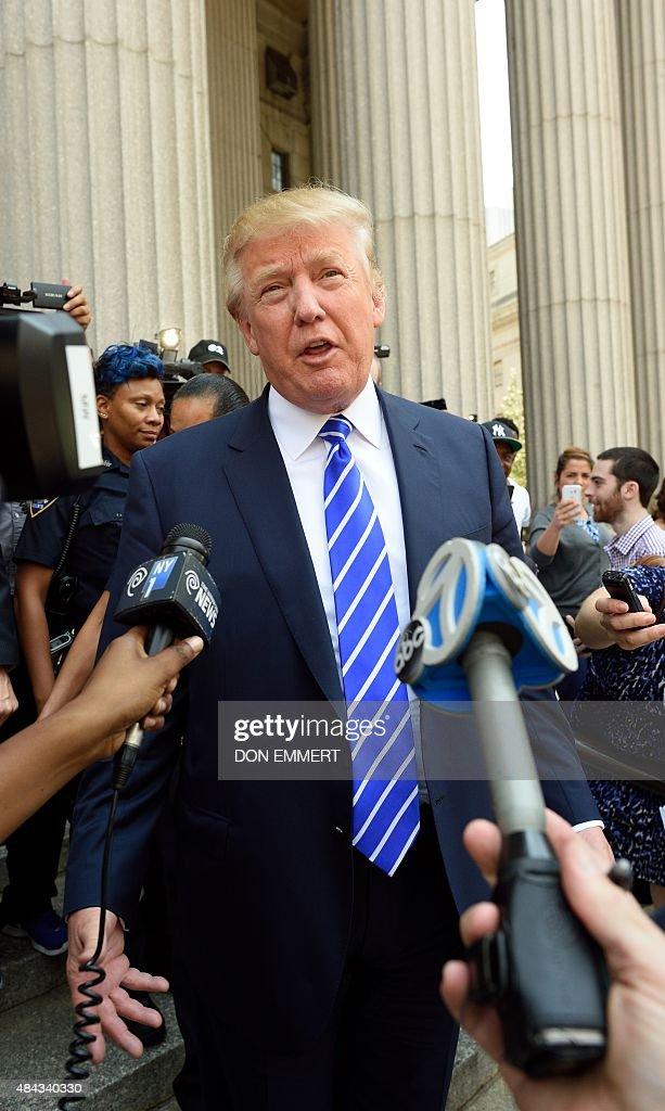 US-VOTE-REPUBLICANS-TRUMP-COURT : News Photo