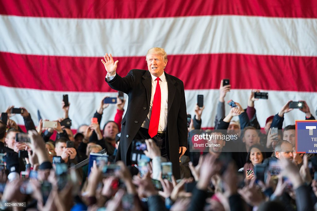 Donald Trump Holds Campaign Rally In Rochester, NY : News Photo