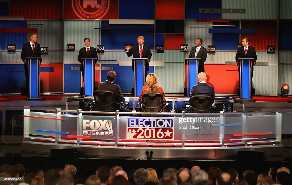 GOP Presidential Candidates Debate In Milwaukee : News Photo