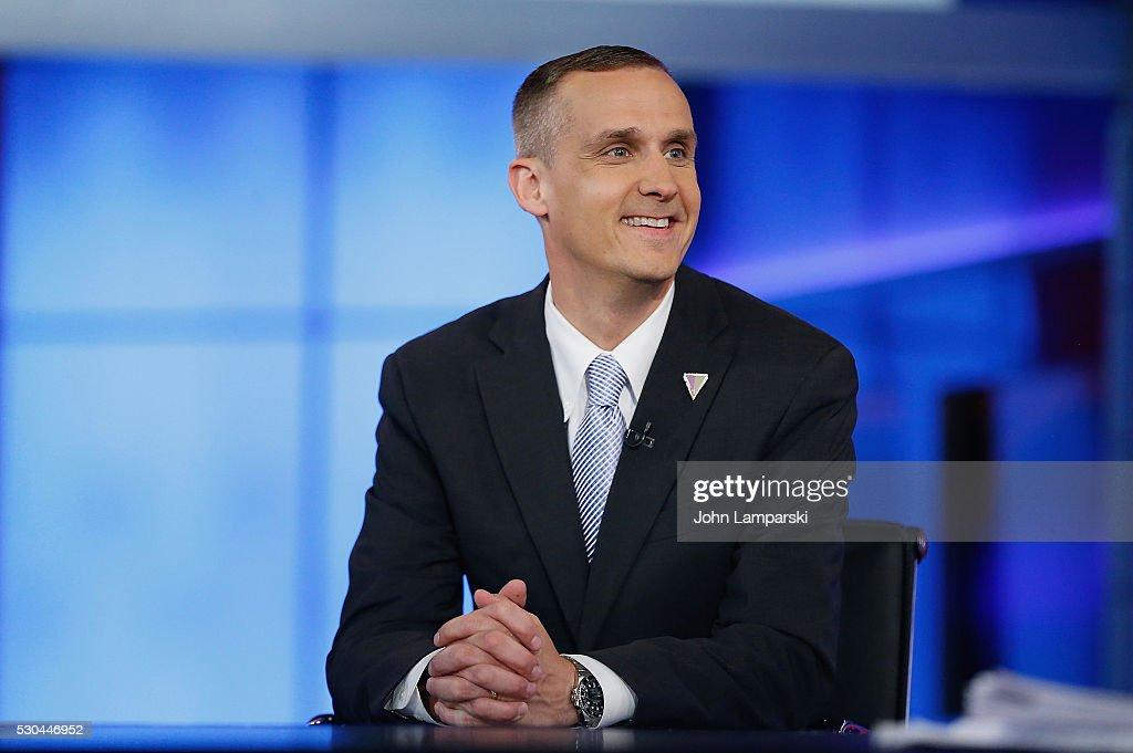 Corey Lewandowski Visits Fox News Channel with Hannity : News Photo
