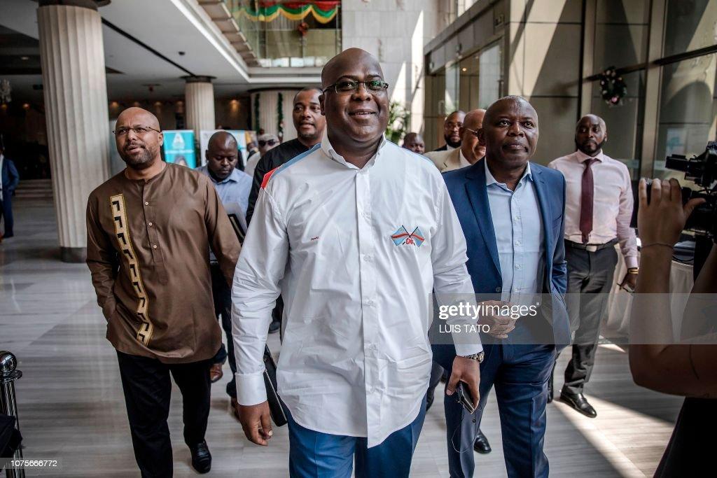 DRCONGO-POLITICS-VOTE : News Photo