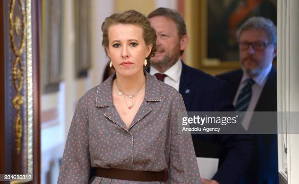 Presidential candidate from the Grazhdanskaya Initsiativa [Civic Initiative] Party Ksenia Sobchak Russian Presidential Commissioner for...
